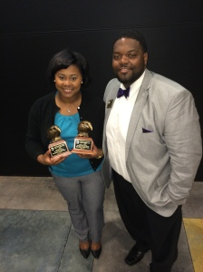 Georgia Southern University Eagles in Diversity Awards 2014. Me (left) Chris (right)